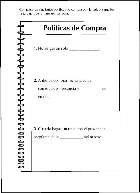 Compras for Manual de compras de un restaurante pdf